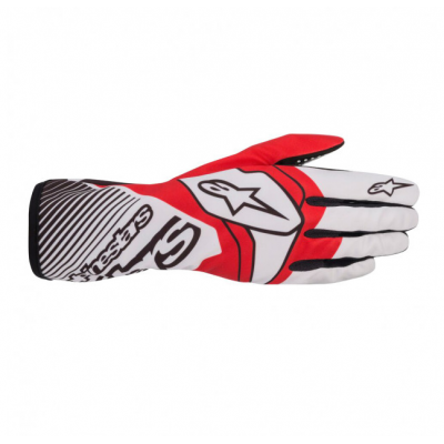 Luvas Alpinestars Tech-1 K Race Branco/Vermelho