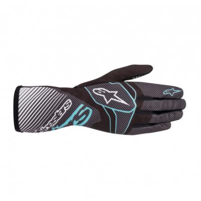 Luvas Alpinestars Tech-1 K Race Carbono/Azul
