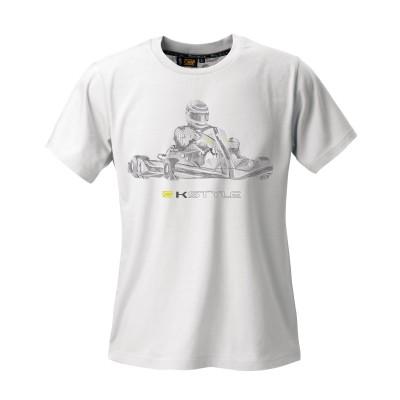 T-Shirt OMP Kart Branca