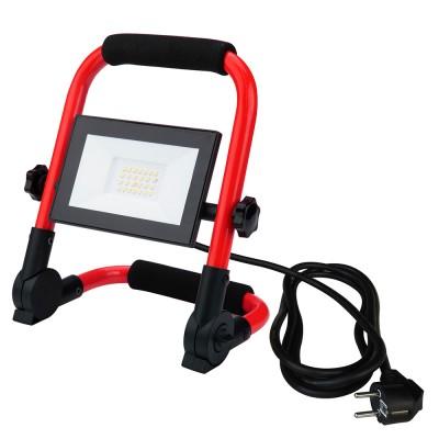Projector luz LED 20W c/ suporte metálico dobrável