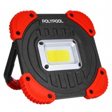Projector luz LED 10W c/ suporte metálico dobrável
