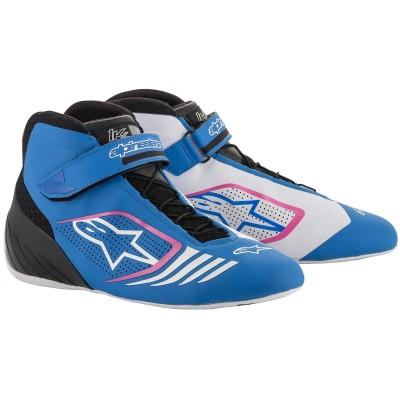 Botas Alpinestars Tech 1 KX - Branco/Azul/Rosa