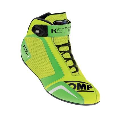 Botas OMP KS1 - Amarelo/Verde