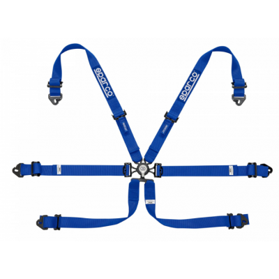 Cinto Sparco 04818RALPD 6 Pontos Hans FIA - Azul