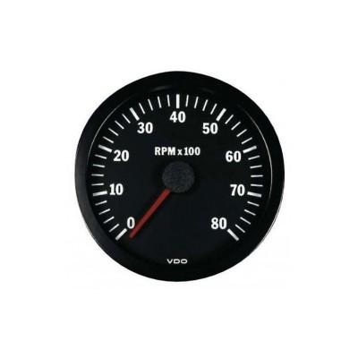 Conta-rotações VDO 8000 RPM Diâmetro 100 Gasóleo/Gasolina