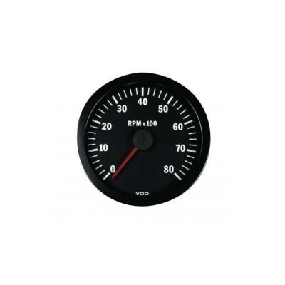 Conta-rotações VDO 8000 RPM Diâmetro 52mm Gasóleo/Gasolina