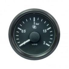Manómetro Pressão Turbo VDO SingleViu