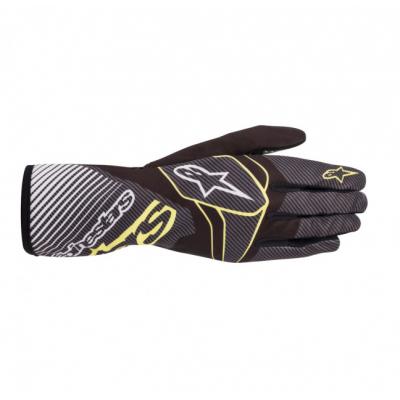 Luvas Alpinestars Tech-1 K Race Carbono/Amarelo