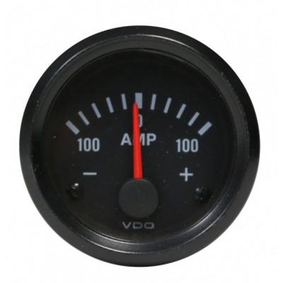 Amperímetro VDO Vision 100A Diâmetro 52mm
