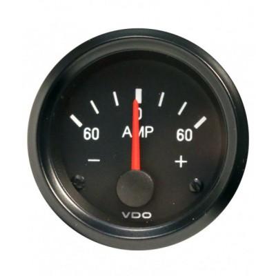 Amperímetro VDO Vision 60A Diâmetro 60A