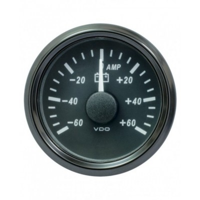 Amperímetro VDO SingleViu Diâmetro 52mm 60A
