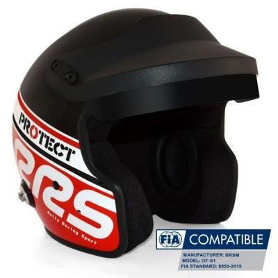 Capacete RRS Protect Jet FIA 8859-2015 - Vermelho