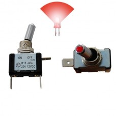 Interruptor com Luz 12V 20A Vermelho