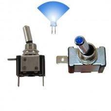 Interruptor com luz 12V 20A Azul