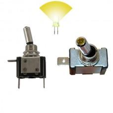 Interruptor com Luz 12V 20A Amarelo