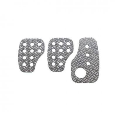 Kit 3 pedais OMP em Alumínio Granulado